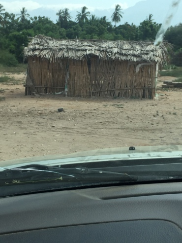 "A ""house"" in the village of Karumba."