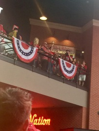 Bruce Sutter waving to Cardinal fans at the BallPark Village