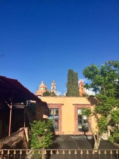 A view of a church.