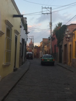 Old-world cobblestone streets.