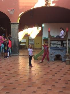 Linnea hanging with her preschool friends.