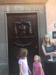 Art is everywhere! I love this door.