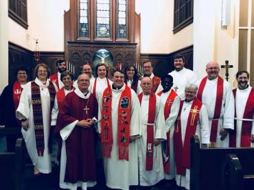 Great group of Christian leaders were present for the rite of ordination.